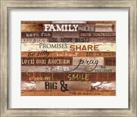 Family Rules Fine Art Print