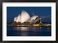 Australia, Sydney Opera House at night on waterfront Fine Art Print