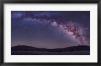 Milky Way Rises the McDonald Observatory near Fort Davis, Texas Fine Art Print