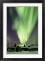 Aurora Borealis and the Big Dipper Whitehorse, Yukon, Canada Fine Art Print