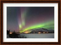 Aurora Borealis over Nares Lake, Carcross, Yukon, Canada Fine Art Print