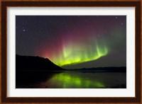 Aurora Borealis with Big Dipper over Kluane Lake, Yukon, Canada Fine Art Print