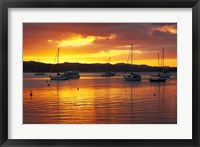 Sunset, Russell, Bay of Islands, Northland, New Zealand Fine Art Print