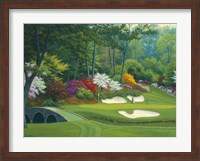 Augusta on the 12th hole Fine Art Print