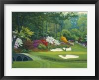 Augusta on the 12th hole Fine Art Print
