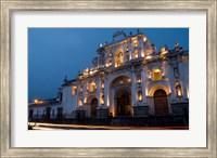 Cathedral in Square, Antigua, Guatemala Fine Art Print