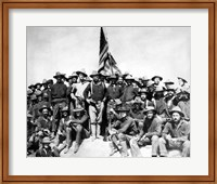Colonel Theodore Roosevelt and The Rough Riders Fine Art Print