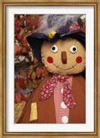 Stuffed Scarecrow on Display at Halloween, Washington Fine Art Print