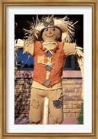 Scarecrow in Suburban Yard at Halloween, Logan, Utah Fine Art Print