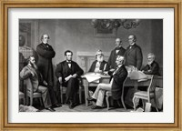 President Lincoln reading the Emancipation Proclamation to his Cabinet Fine Art Print