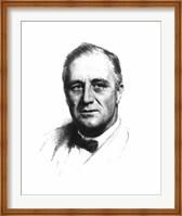 Vector Sketch of Franklin Delano Roosevelt Fine Art Print