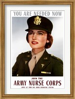 Female Officer of the US Army Medical Corps Fine Art Print