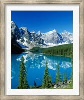 Wenkchemna Peaks and Moraine Lake, Banff NP, Alberta, Canada Fine Art Print