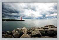 Muskegon South Breakwater lighthouse, Lake Michigan, Muskegon, Michigan, USA Fine Art Print