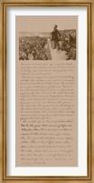 President Abraham Lincoln and Gettysburg Address Fine Art Print