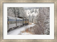 Via Rail Snow Train Between Edmonton & Jasper, Alberta, Canada Fine Art Print