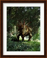 Styracosaurus in a forest Fine Art Print