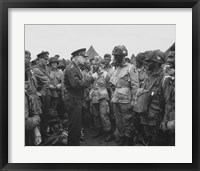 General Dwight D Eisenhower with Soldiers of the 101st Airborne Division Fine Art Print