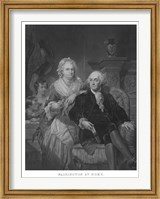 President George Washington and His Family (black and white portrait) Fine Art Print