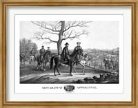 Generals Robert E Lee and Ulysses S Grant Fine Art Print