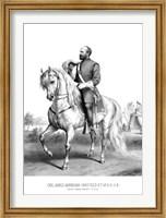 President James Garfield on Horseback Fine Art Print