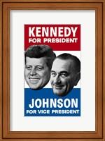 1960 Democratic Nominees, Kennedy & Johnson Fine Art Print