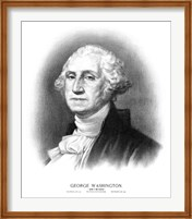 Bust of President George Washington Fine Art Print