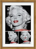 Marilyn - Red Lips Trio Fine Art Print
