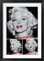 Marilyn - Red Lips Trio Fine Art Print