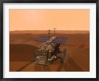 Artist's Concept of a Martian Rover Fine Art Print
