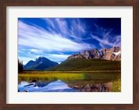 Waterfowl Lake and Rugged Rocky Mountains, Banff National Park, Alberta, Canada Fine Art Print