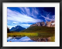 Waterfowl Lake and Rugged Rocky Mountains, Banff National Park, Alberta, Canada Fine Art Print