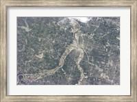 Satellite View of Kansas City, Missouri Fine Art Print