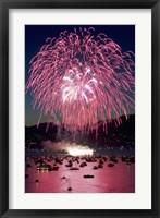 Fireworks, English Bay, Vancouver, British Columbia Fine Art Print