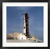 Apollo 11 Space Vehicle Taking off from Kennedy Space Center Fine Art Print