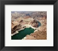 Aerial view of the Hoover Dam- Arizona Fine Art Print