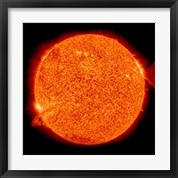 Two Solar Prominences Erupt from the Sun Fine Art Print