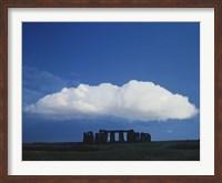 A Large Cloud over Stonehenge, Wiltshire, England Fine Art Print