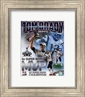Tom Brady Super Bowl XLIX MVP Portrait Plus Fine Art Print