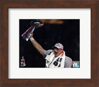 Rob Gronkowski with the Vince Lombardi Trophy Super Bowl XLIX Fine Art Print