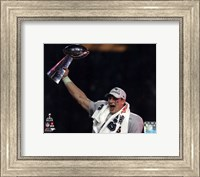 Rob Gronkowski with the Vince Lombardi Trophy Super Bowl XLIX Fine Art Print