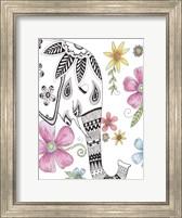 Tribal Elephant Portrait Fine Art Print