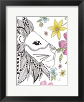 Tribal Lion Portrait Fine Art Print
