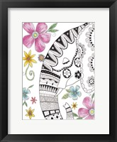 Tribal Elephant Portrait 2 Fine Art Print