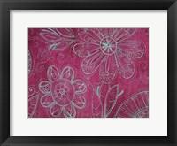 Floral on Pink Fine Art Print