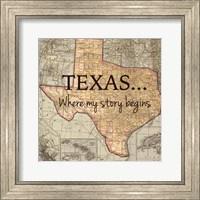 Texas My Story Fine Art Print