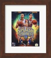 Stephen Curry & Klay Thompson Splash Brothers Portrait Plus Fine Art Print