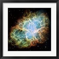 A Giant Hubble Mosaic of the Crab Nebula Fine Art Print