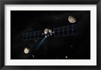 Artist's Concept of the Dawn Spacecraft in Orbit around the Large Asteroid Vesta and the Dwarf Planet Ceres Fine Art Print