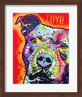 Thoughtful Pitbull 2 Fine Art Print